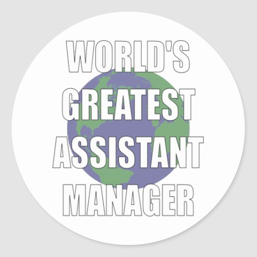 World's Greatest Assistant Manager Stickers