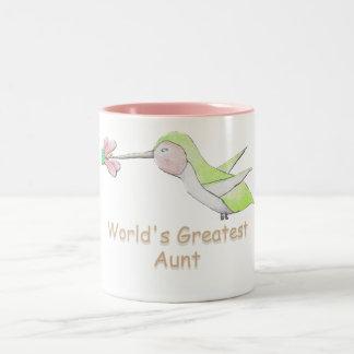 World's Greatest Aunt Hummingbird Mug