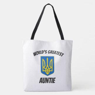 World's Greatest Auntie Ukrainian Tryzub Tote Bag