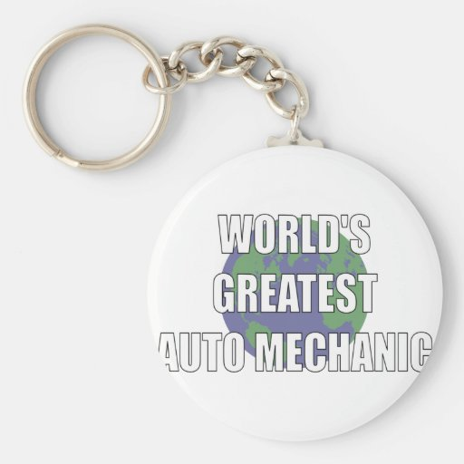 WOrld's Greatest Auto Mechanic Keychain