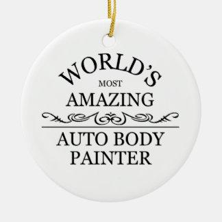World's greatest auto painter ceramic ornament