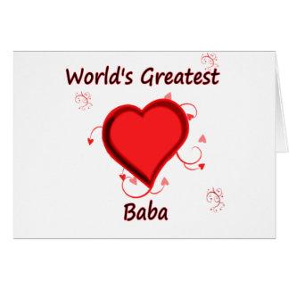 World's Greatest baba Card