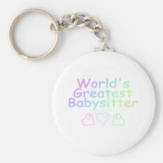 Worlds Greatest Babysitter Keychain