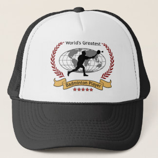 World's Greatest Badminton Player (Men) Trucker Hat