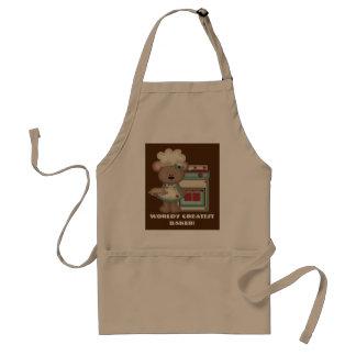 World's greatest baker add text kitchen apron