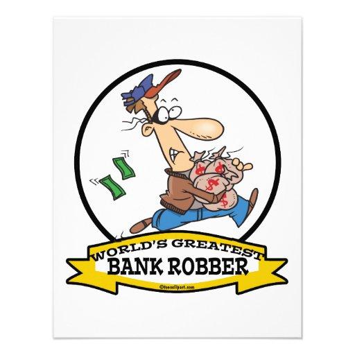WORLDS GREATEST BANK ROBBER MEN CARTOON ANNOUNCEMENT