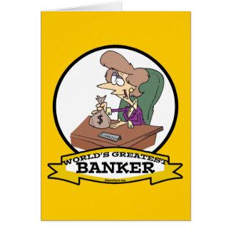 WORLDS GREATEST BANKER WOMEN CARTOON CARD