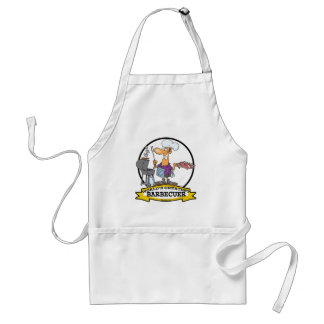 WORLDS GREATEST BARBECUER MEN CARTOON STANDARD APRON