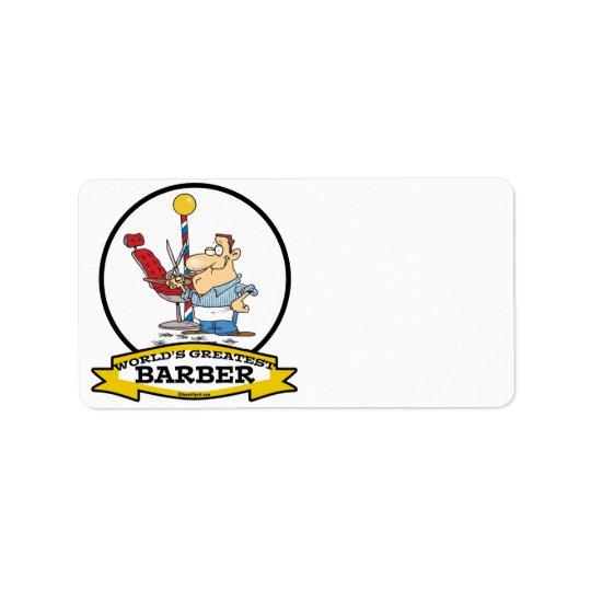 WORLDS GREATEST BARBER MEN CARTOON