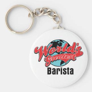 Worlds Greatest Barista Keychain