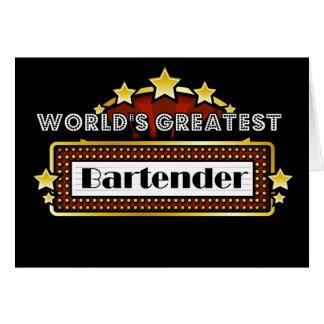 World's Greatest Bartender Card