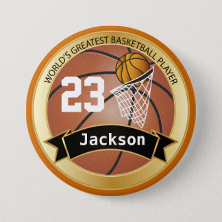 World's Greatest Basketball Player 3 Inch Round Button