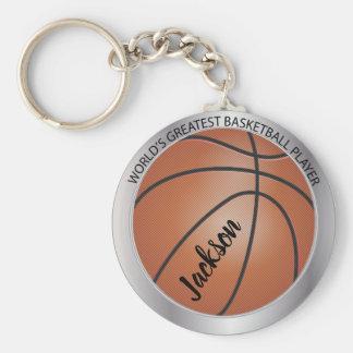 World's Greatest Basketball Player -Silver Keychain