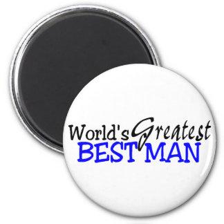 Worlds Greatest Best Man 2 Inch Round Magnet