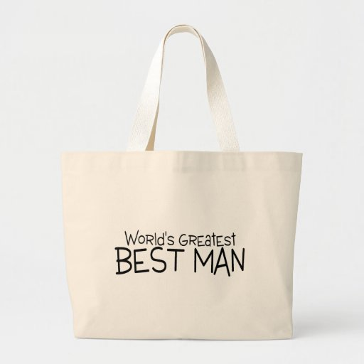Worlds Greatest Best Man Canvas Bags