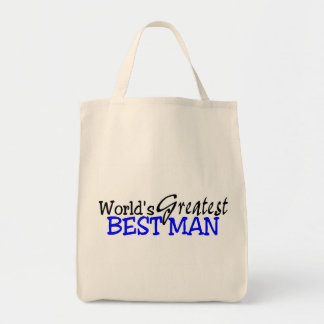 Worlds Greatest Best Man Grocery Tote Bag