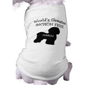Worlds Greatest Bichon Frise Dog Dog T-shirt