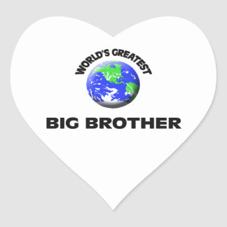 World's Greatest Big Brother Heart Stickers