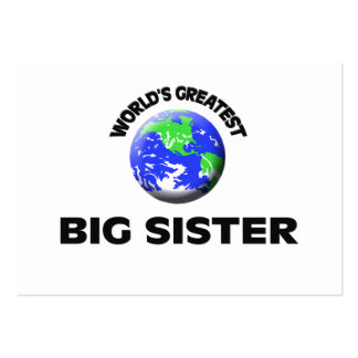 World's Greatest Big Sister Business Card Templates