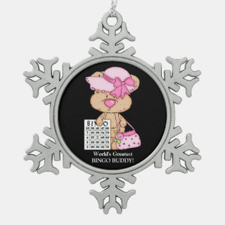 World's Greatest Bingo Buddy Snowflake ornament