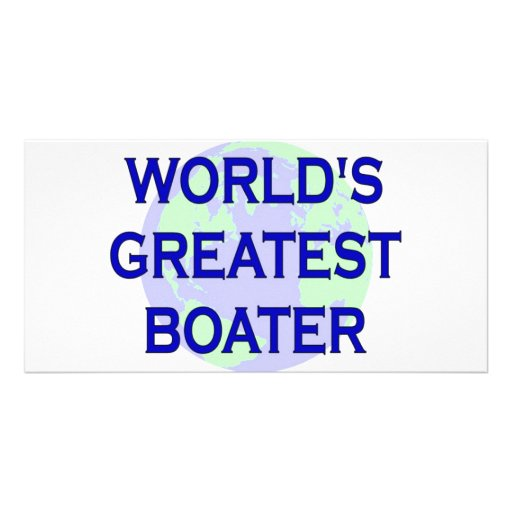 World's Greatest Boater Photo Card Template