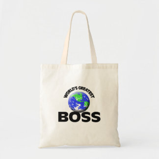 World's Greatest Boss Budget Tote Bag