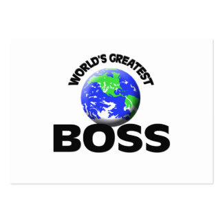 World's Greatest Boss Large Business Cards (Pack Of 100)