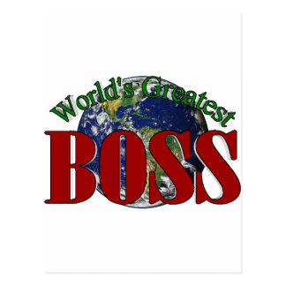 World's Greatest Boss Postcard