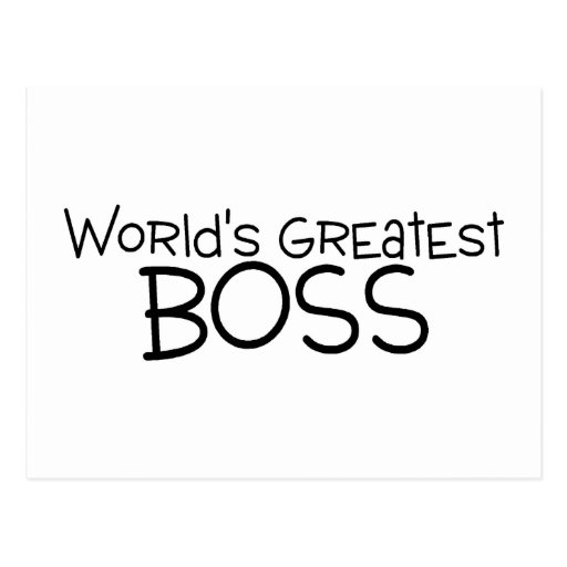 Worlds Greatest Boss Postcards