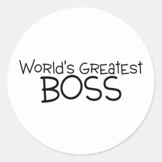 Worlds Greatest Boss Round Sticker