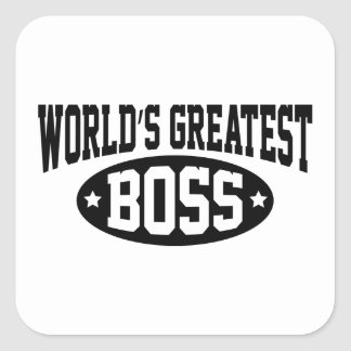 World's Greatest Boss Square Sticker