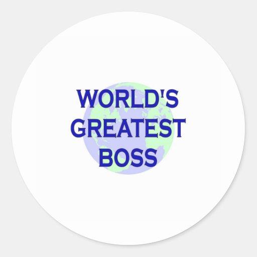 World's Greatest Boss Round Stickers