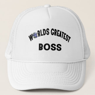 Worlds Greatest Boss Trucker Hat