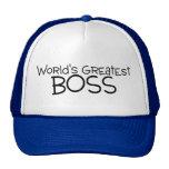 Worlds Greatest Boss Trucker Hats