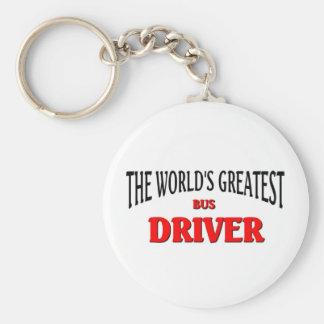World's Greatest Bus Driver Basic Round Button Keychain