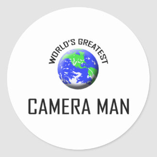 World's Greatest Camera Man Round Sticker