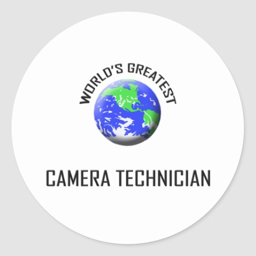 World's Greatest Camera Technician Round Stickers
