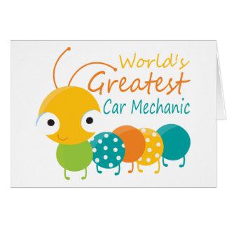 World's Greatest Car Mechanic Card