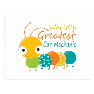 World's Greatest Car Mechanic Post Card