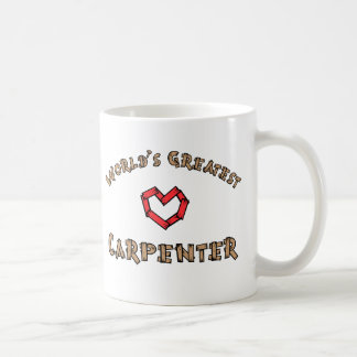 Worlds greatest carpenter classic white coffee mug