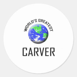 World's Greatest Carver Classic Round Sticker