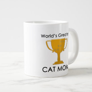 World's Greatest Cat Mom Large Coffee Mug