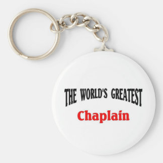 World's greatest Chaplain Keychain