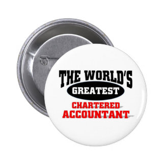 World's Greatest Chartered Accountant 2 Inch Round Button