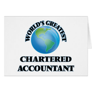 World's Greatest Chartered Accountant Card