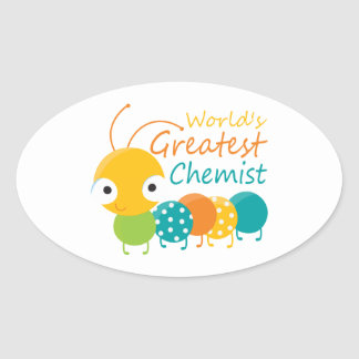 World's Greatest Chemist Oval Stickers
