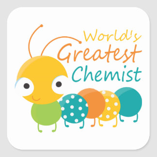 World's Greatest Chemist Square Stickers