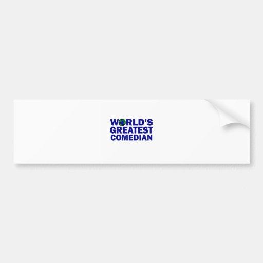 World's Greatest Comedian Bumper Sticker