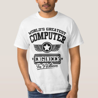 World's Greatest Computer Engineer In Action T-Shirt