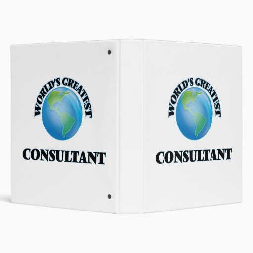 World's Greatest Consultant 3 Ring Binders